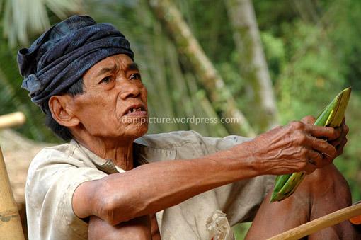 Portrait seorang warga lanjut usia di Baduy Luar