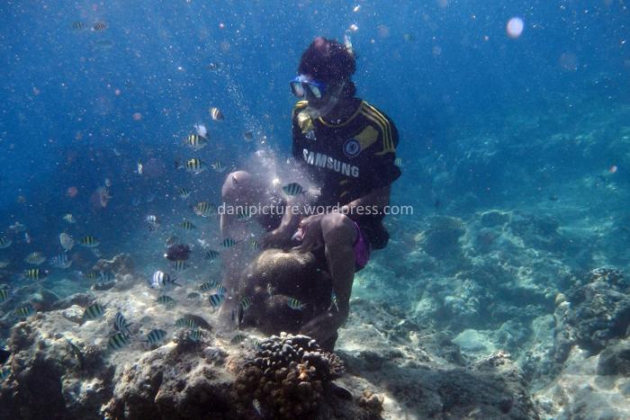 Salah satu tindakan dari salah satu guiede lokal yang bisa merusak ekosistem laut, jika ekosistem rusak maka yang rugi mereka juga, ikan gak ada, terumbu karang rusak, wisatawan sepi, pendapatan juga pasti berkurang.